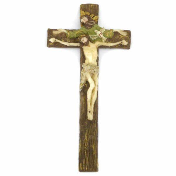 Kreuz aus Wachs mit der Hl. Dreifaltigkeit für Klosterarbeiten