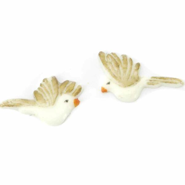 fliegende Taube aus Wachs und handbemalt für Klosterarbeiten oder Kerzen
