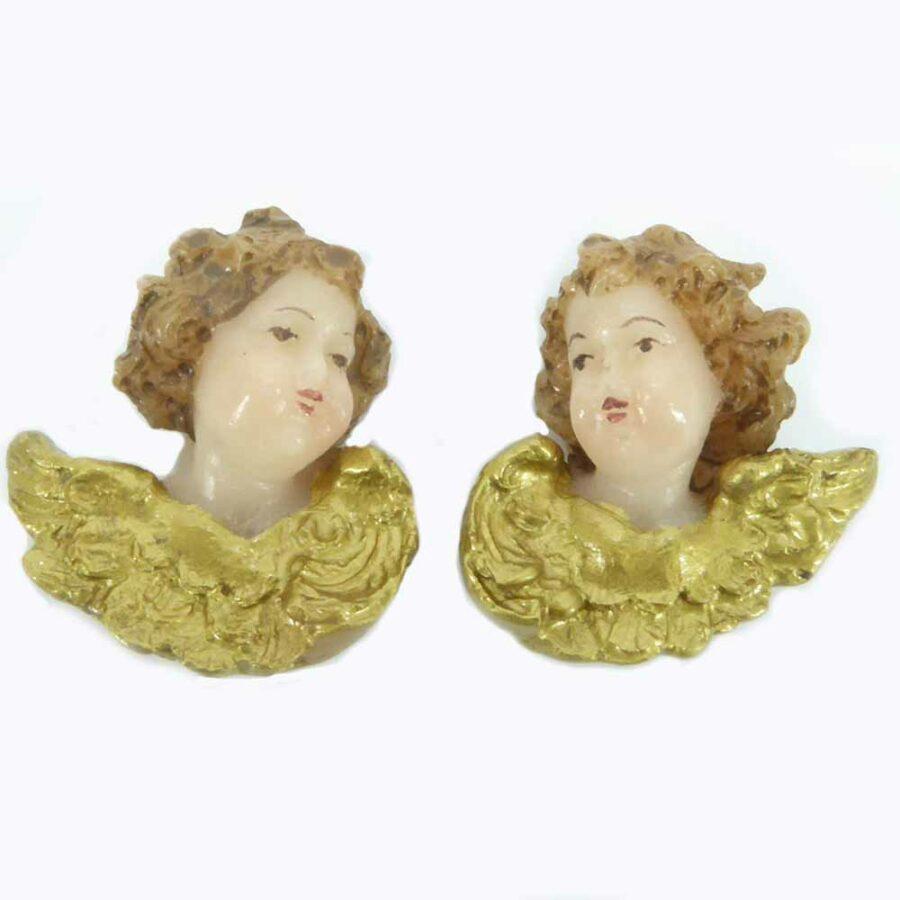 Engelpaar mit Flügel aus Wachs für Klosterarbeiten