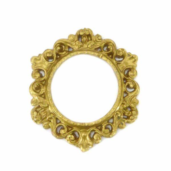 Rahmen aus Wachs in gold für Klosterarbeiten