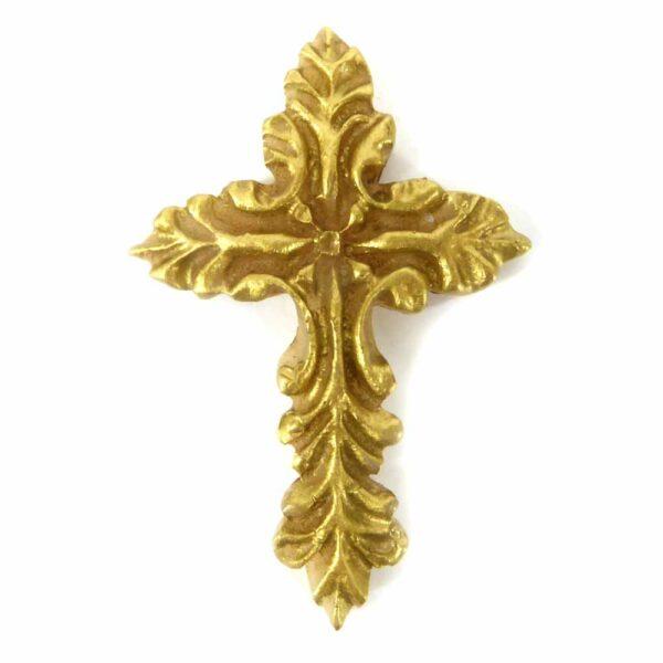 Wachskreuz mit Ornamenten in patiniert für Klosterarbeiten