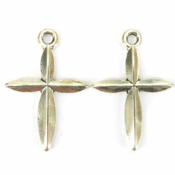 Silberkreuz in gerader Form für Rosenkränze