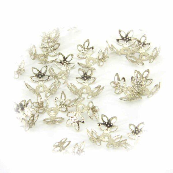 Perlkappen in silber sehr filigrane Art für Klosterarbeiten