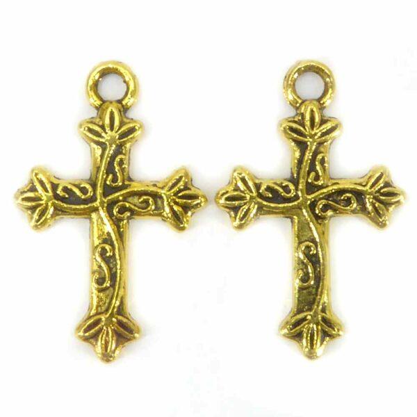 Metallkreuze aus Messing für Rosenkranz und Klosterarbeiten