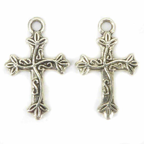 Kreuze aus Metall in silber für rosenkranz und Klosterarbeiten