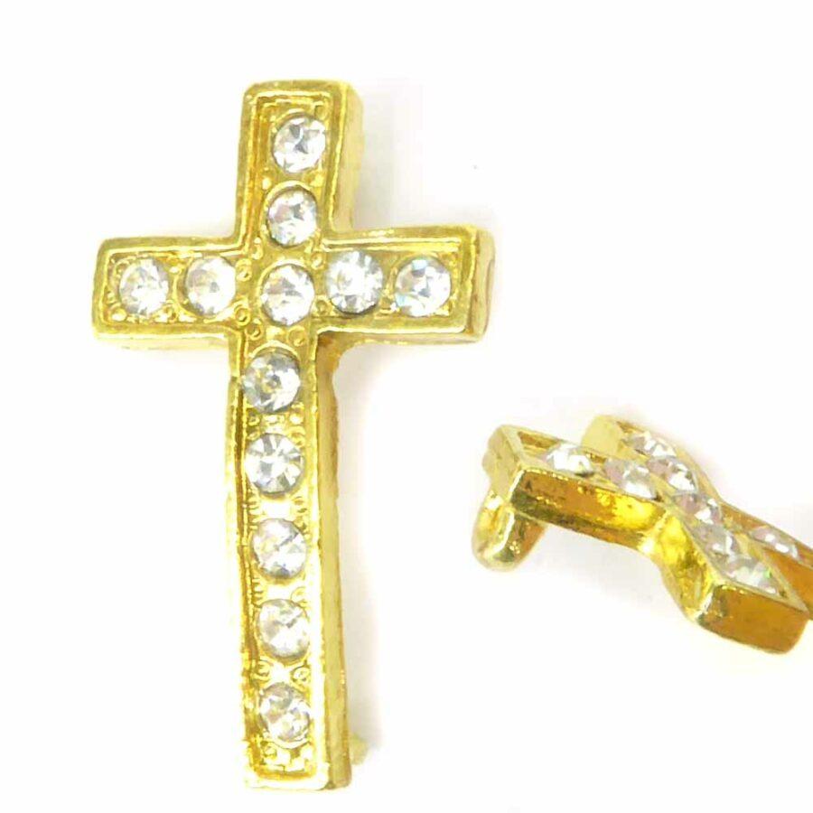 Strasskreuz in gold für Klosterarbeiten