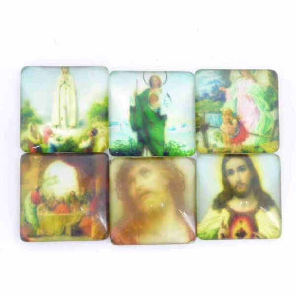 Heiligenbilder aus Glas für Klosterarbeiten