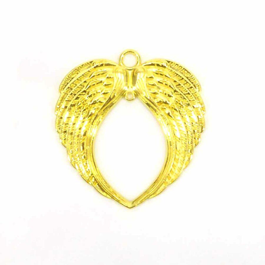 Metallflügel in gold für weihnachtliche Klosterarbeiten
