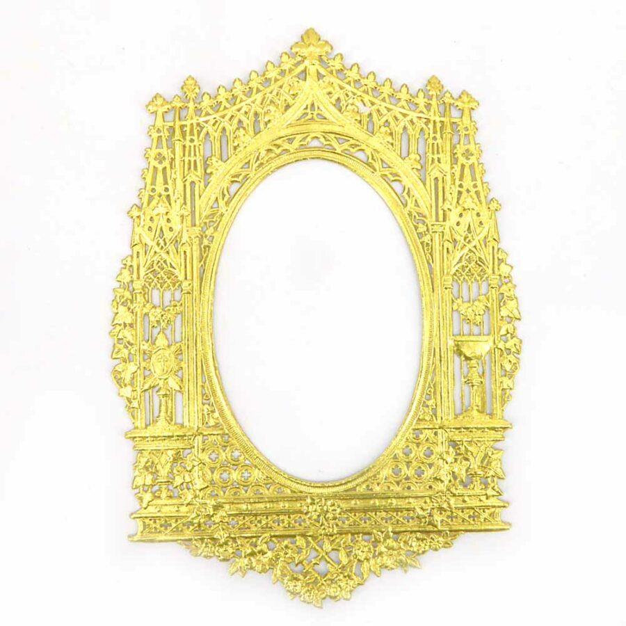 Papierrahmen in geprägtem gold für Klosterarbeiten