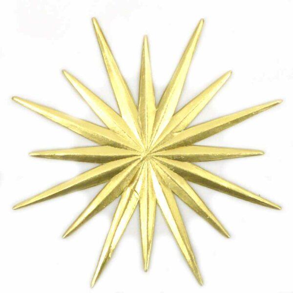 Stern aus Karton in gold für Klosterarbeiten