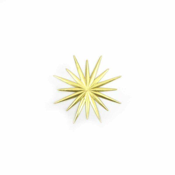 Stern aus Karton in der Farbe gold für Klosterarbeiten