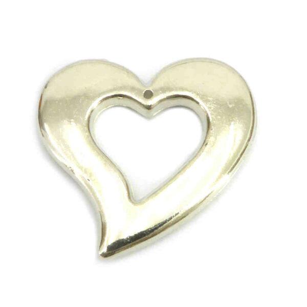 Herzen aus Metall in silber für Klosterarbeiten und Hochzeiten