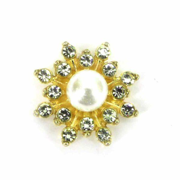 Diamantblüte mit Strass aus Metall für Klosterarbeiten