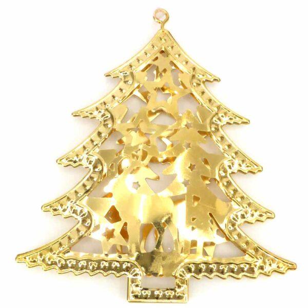 Baum aus Metall in hellem gold für Klosterarbeiten