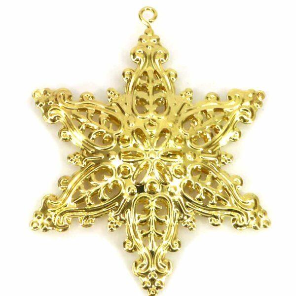 Stern aus Metall in gold und filigraner Form für Klosterarbeiten