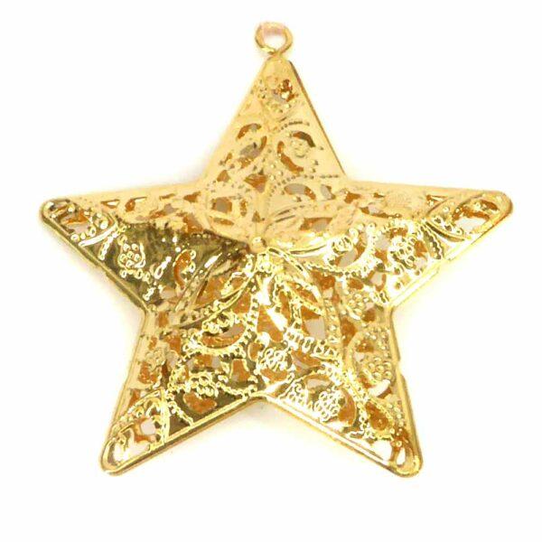 Stern aus Metall in der Farbe gold für Klosterarbeiten