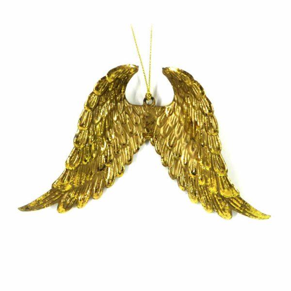 Engelflügel aus Kunststoff in antik-gold für Klosterarbeiten