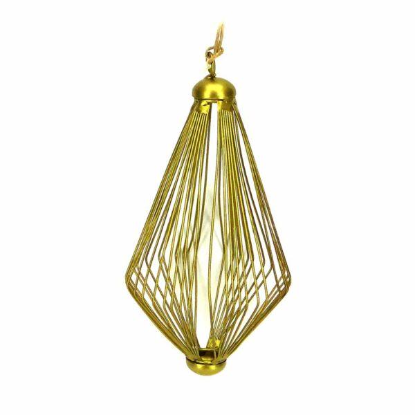 Tropfen aus Metall in mattem gold für Klosterarbeiten