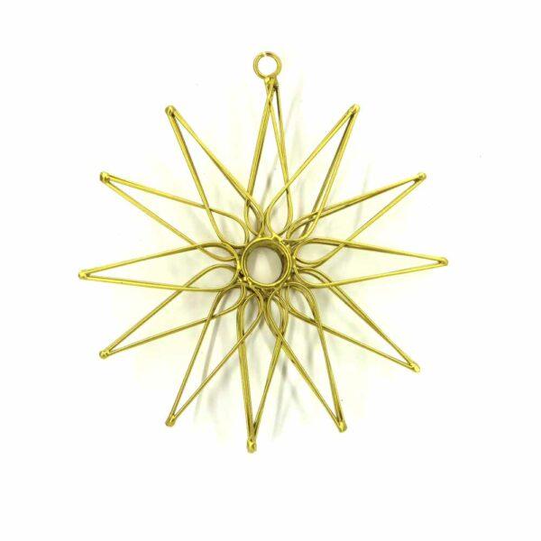 Stern aus Metall mattgold für Klosterarbeiten
