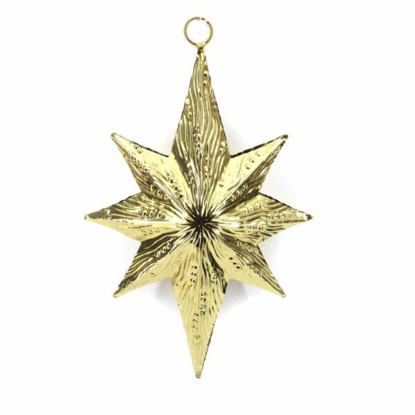 Stern aus Metall in antik-gold für Klosterarbeiten