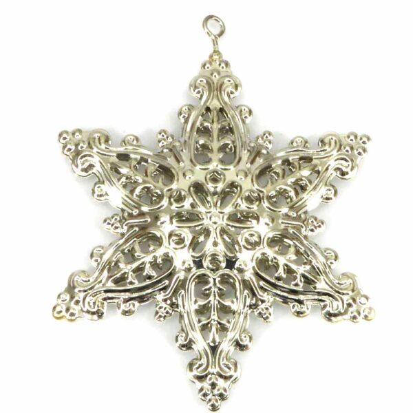 Stern aus Metall in silber für Klosterarbeiten