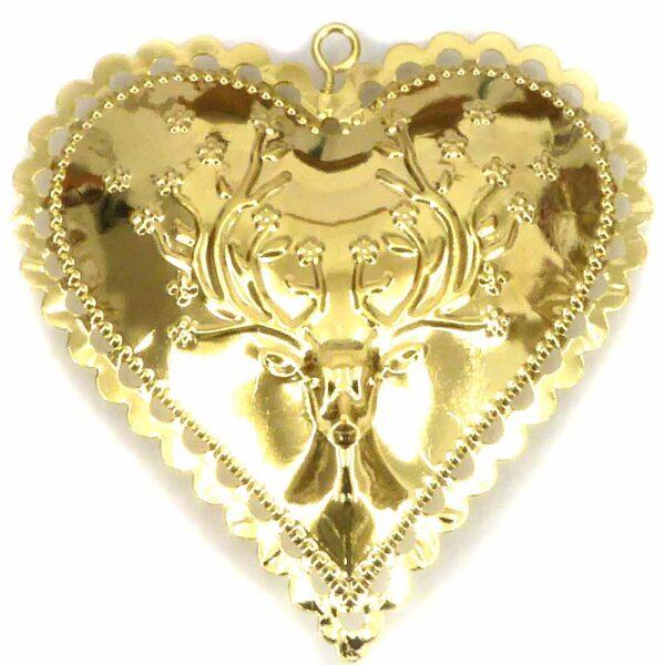 Herz aus Metall in gold für Klosterarbeiten