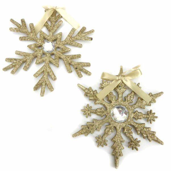 Stern mit gold-glimmer für weihnachtliche Klosterarbeiten