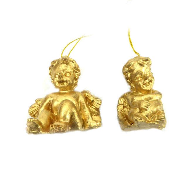 Engel in gold und sitzend für Klosterarbeiten