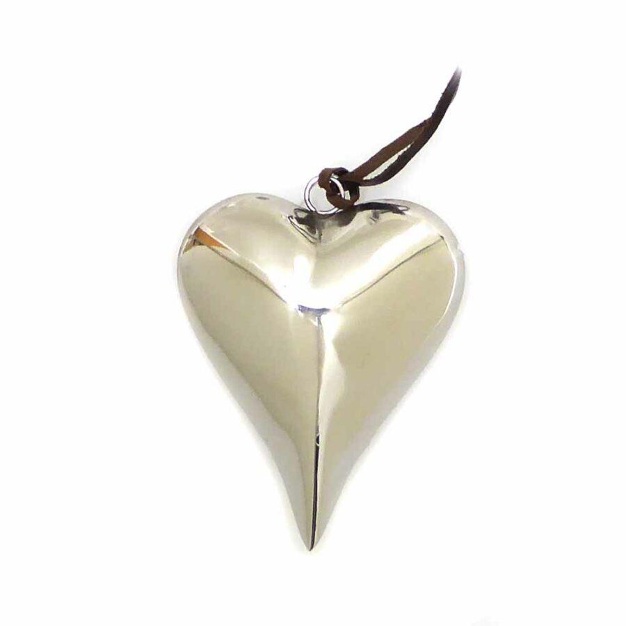 Metallherz in silber für Hochzeit oder Klosterarbeiten