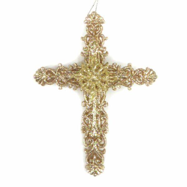 Kreuz aus Kunststoff in filigraner Ausführung für Klosterarbeiten