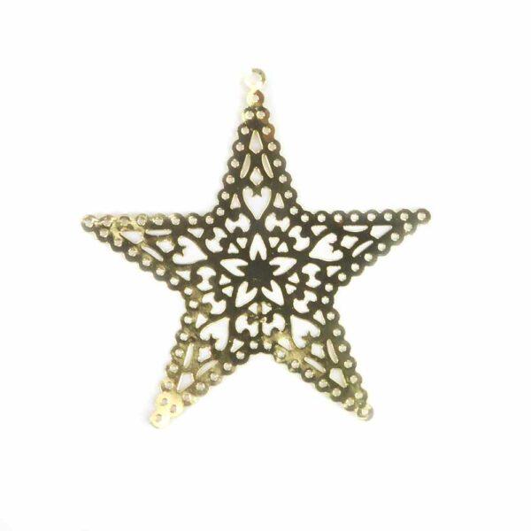 Stern aus Metall in gold für Klosterarbeiten
