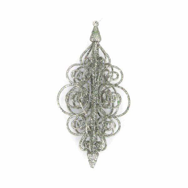 Ornament in länglicher Form und silber für Klosterarbeiten