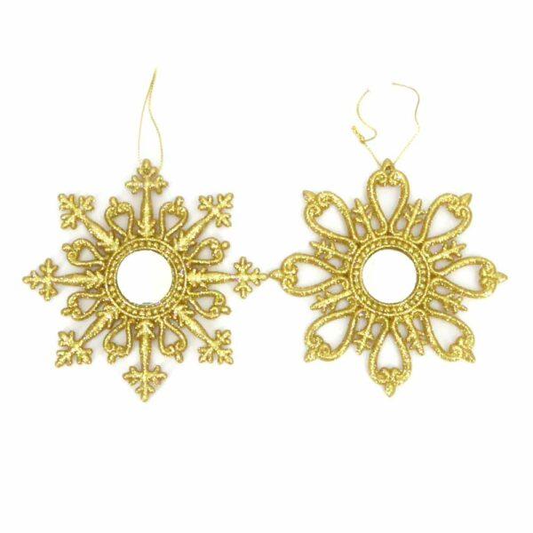 Stern mit Spiegel in gold für Klosterarbeiten