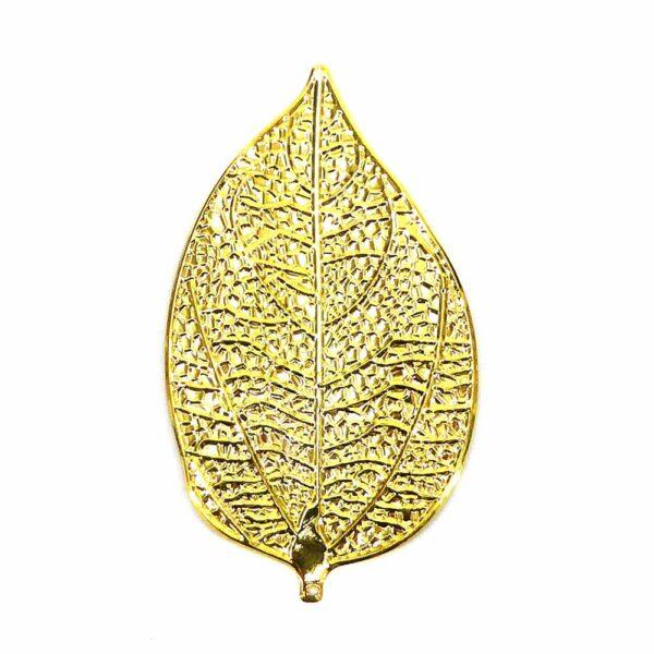 Metallblatt in gold als Unterlage für Jesulein mit Klosterarbeit