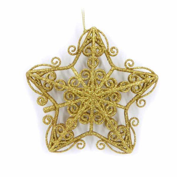 Stern in gold-glimmer und filigraner Ausführung für Klosterarbeiten