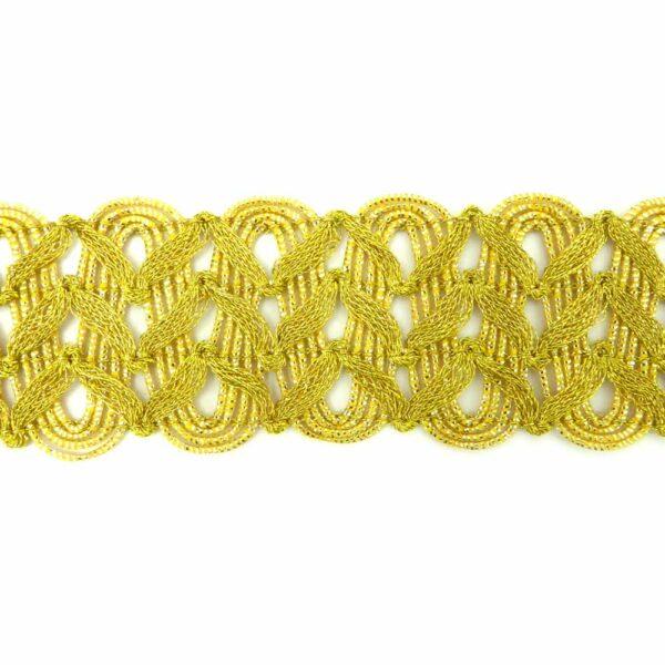 Brokatborte in gold für Klosterarbeiten
